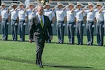 Defense Secretary Jim Mattis enters Michie Stadium before delivering the commencement address at the U.S. Military Academy at West Point, N.Y., May 27, 2017. U.S Army photo by Staff Sgt. Vito T. Bryant