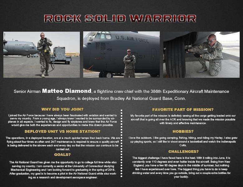 Rock Solid Warrior: Senior Airman Matteo Diamond > U S  Air