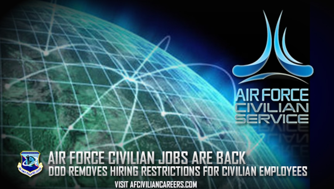 """The Air Force Personnel Center is partnering with customers with the goal of resuming normal """"first-in, first-out"""" operations since the end of the government-wide hiring freeze in April 2017. (U.S. Air Force courtesy graphic)"""