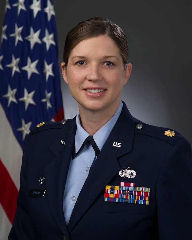 Maj. Naomi Henigin, 60th Force Support Squadron commander, shares some thoughts on the impact of change. (U.S. Air Force Photo)