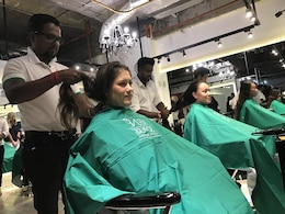 Sailors from Nimitz Carrier Strike Group (CSG) donate their hair at a salon in Colombo to be used to make wigs for Sri Lankan cancer patients. Nimitz CSG is on a regularly scheduled deployment in the 7th Fleet area of responsibility in support of maritime security operations and theater security cooperation efforts.