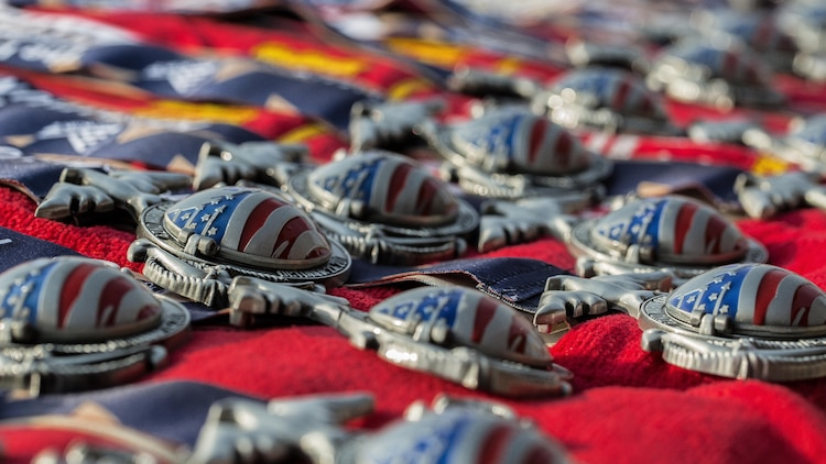 Runners that finished the 42nd Marine Corps Marathon Forward while in the Middle East Oct. 22, 2017 received the same medal as those running the 42nd Marine Corps Marathon in the United States. The Marine Corps Marathon is one of the largest marathons in the world and hosts the marathon in forward locations to allow deployed service members the opportunity to compete.