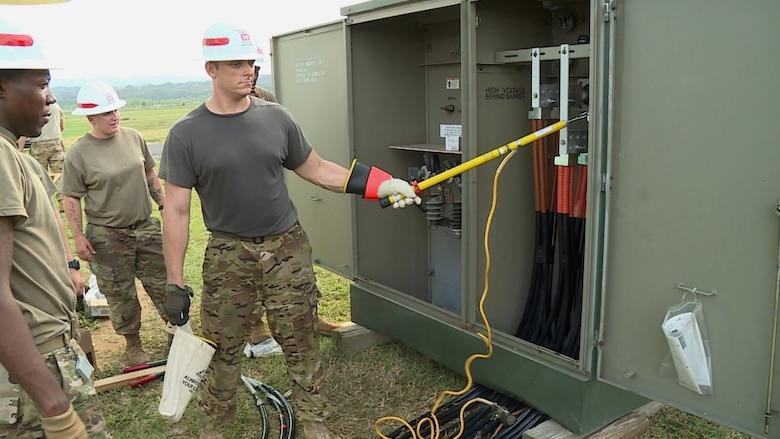 U S  Army Corps of Engineers Emergency Temporary Power Team