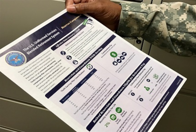 Service members eligible to opt into the Blended Retirement System or choose to keep the legacy retirement system in 2018 now have a course to help them use the online comparison .