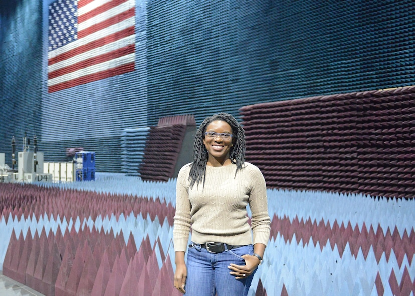 Amarachi Egbuziem works with the 772d Test Squadron, which oversees electronic warfare testing at the Benefield Anechoic Facility. She joined Team Edwards right after graduating from California State University, Fresno with a degree in electrical engineering. (U.S. Air Force photo by Kenji Thuloweit)