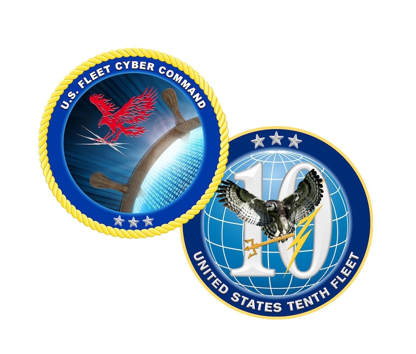 Official U.S. Fleet Cyber Command/U.S. Tenth Fleet emblem.