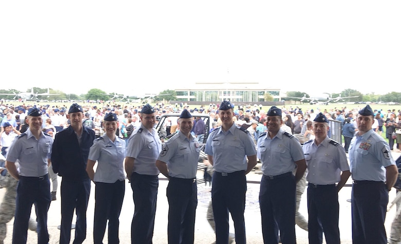 Col. Julian Cheater, 432nd Wing/432nd Air Expeditionary Wing commander, and select squadron commanders visited the United States Air Force graduating class of Basic Military Training Oct. 20, 2017, at Joint Base San Antonio, Texas. Leaders of the premier MQ-1 Predator and MQ-9 Reaper combat wing witnessed 700 trainees graduate to become the next generation of Airmen. (Courtesy Photo)
