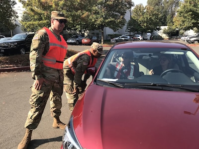 Cal Guard staffed checkpoints during fires
