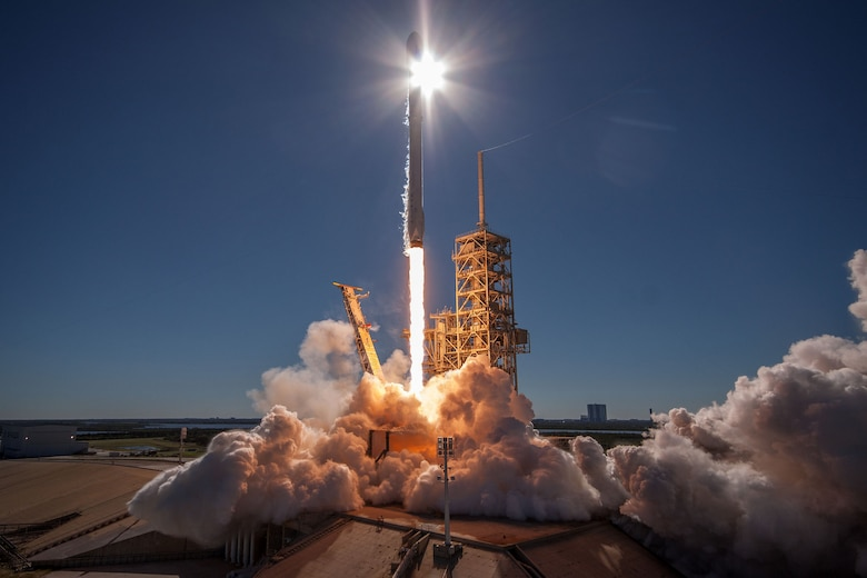 The 45th Space Wing assisted SpaceX in the successful launch of a Falcon 9 rocket carrying the KoreaSat-5A satellite, Oct. 30, 2017, from the NASA Kennedy Space Center, Cape Canaveral, Fla. (Courtesy photo by SpaceX)