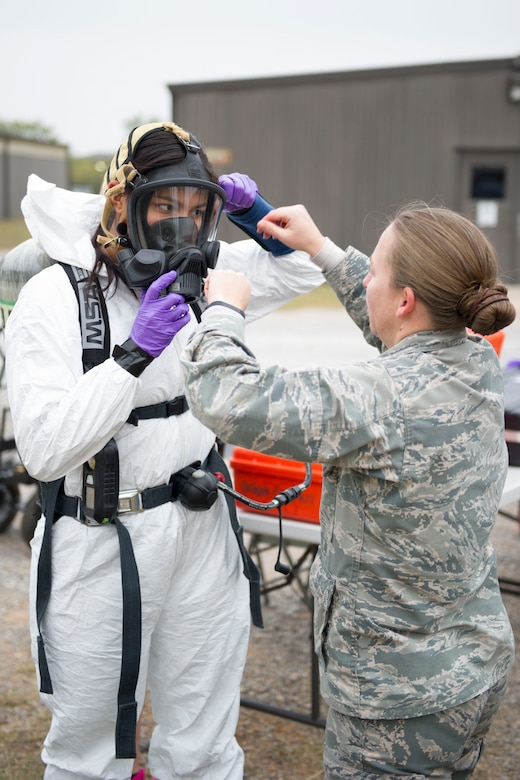 Bioenvironmental, emergency management HAZMAT training