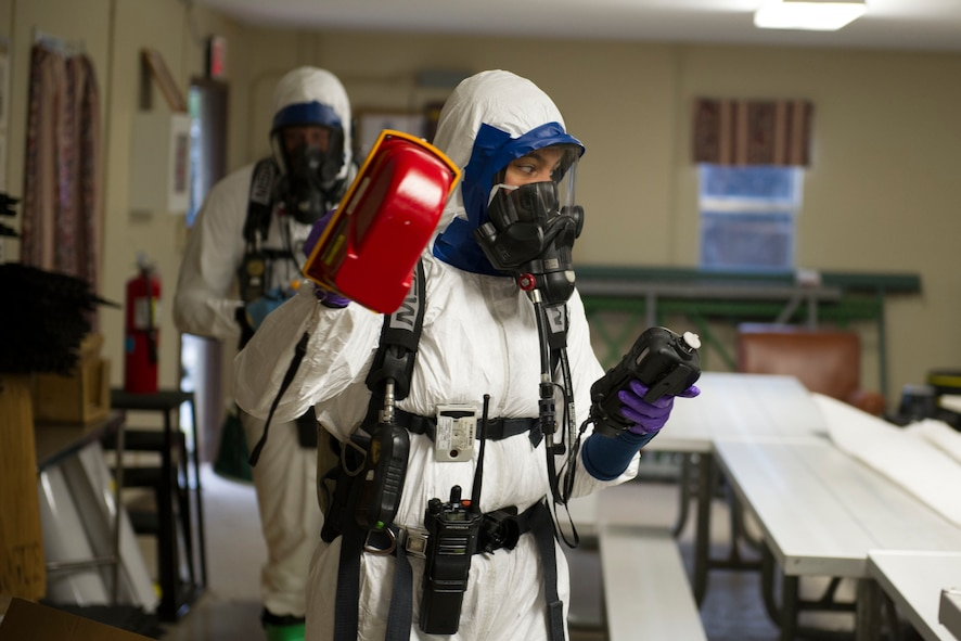Bioenvironmental, emergency management HAZMAT training