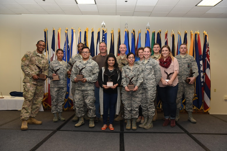 Airmen, families and friends of the 90th Missile Wing gathered, Nov. 3, in the Trail's End Club on base to celebrate the 2017 third quarter award winners.