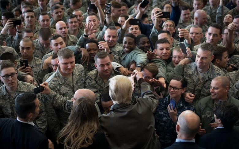 President Donald J. Trump visits Yokota Air Base