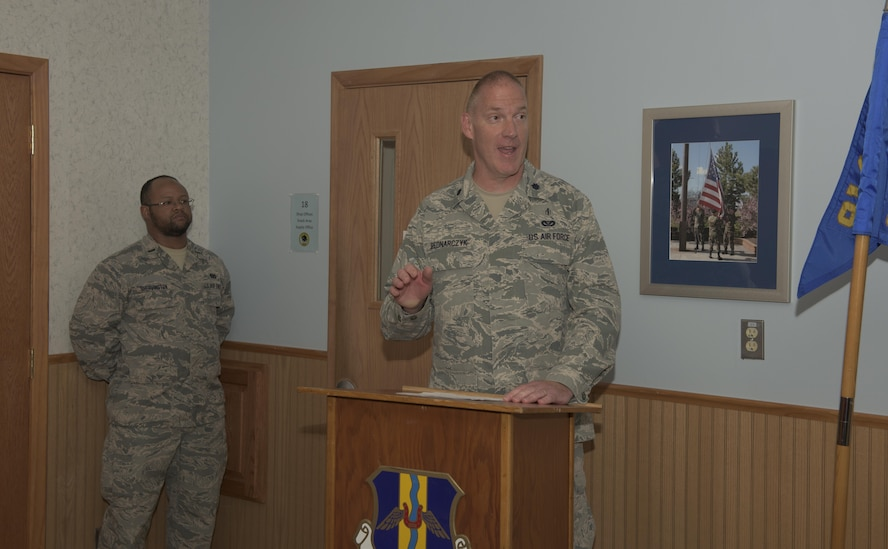 Lt. Col. Paul J. Bednarczyk takes command of 914th CES