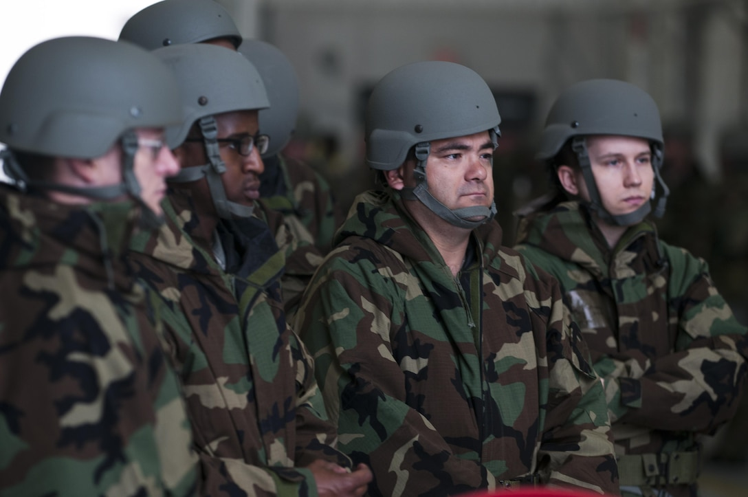 U.S. Air Force Airmen assigned to the 916th Air Refueling Wing participated in an Ability to Survive and Operate Rodeo at Seymour Johnson Air Force Base, N.C., Nov. 4, 2017. Approximately 300 Airmen, donned Mission-Oriented Protective Posture gear to test their ability to accurately and quickly change between postures, as well as performed tests to detect chemical agents in a potentially contaminated area.
