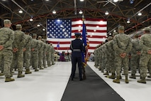 173rd Fighter Wing Wing Airmen at demobilization ceremony