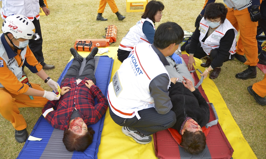 Osan, Korean Emergency Services train together, strengthen commitment