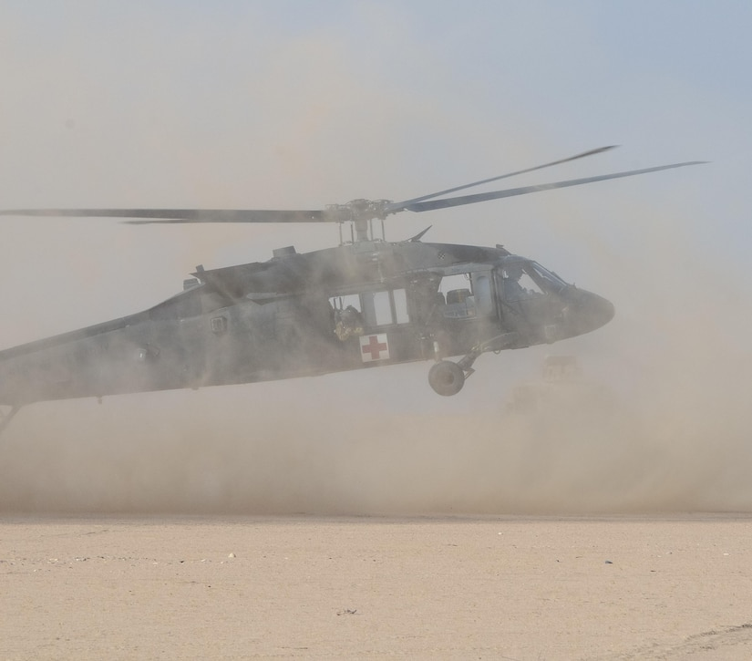 Army helicopter.