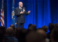Air Mobility Command commander provides A/TA 2017 closing address.