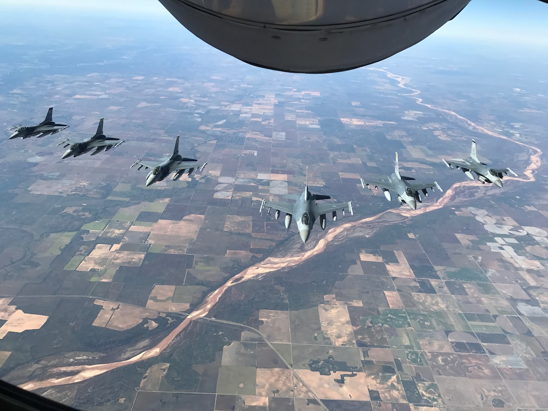 Six F-16Cs from the 549th Combat Training Squadron