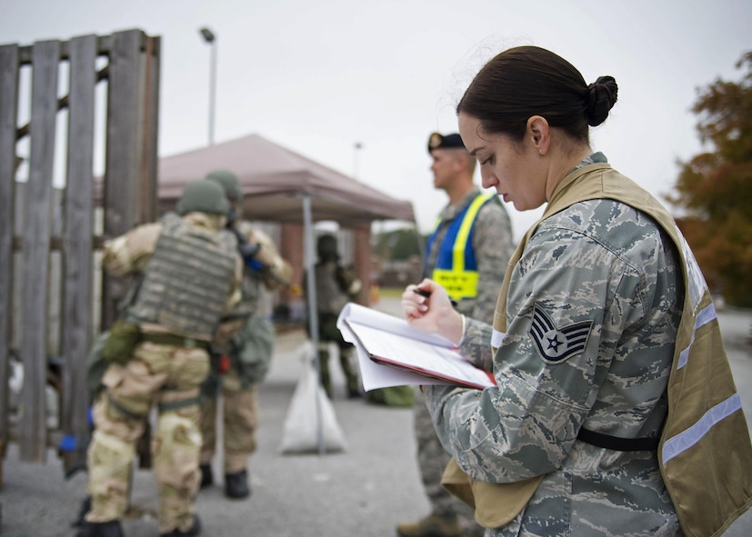 315th Airlift Wing conducts ATSO/CBRNE exercise - 315th Security Forces Squadron