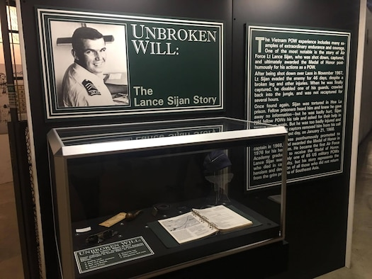 The Capt. Lance P. Sijan display at the National Museum of the U.S. Air Force tells the story of how Sijan was captured and tortured in Hoa Lo prison. He died on Jan. 21, 1968 and posthumously received the Medal of Honor for his heroism.