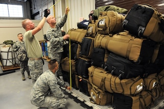 Connecticut and Massachusetts Air National Guardsmen deploy to Puerto Rico from Bradley Air National Guard Base in East Granby, Ct., in support of Hurricane Maria relief efforts, Nov. 5, 2017. Photos by Air National Guard Senior Master Sgt. Julie Avey