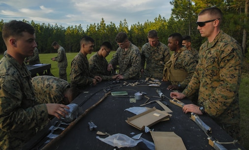 The basic division engineer course is a two-week course that allows Marines reporting to 2nd CEB to remain proficient and effective as combat engineers when attached to infantry units.
