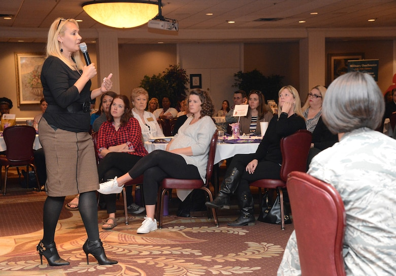 Susan Still, a women's rights activist and keynote speaker on domestic violence, gave her first-hand account of being a survivor of physical and emotional abuse during a Domestic Violence Awareness Month Storyteller event.