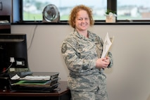 Master Sgt. Becky Reaves is the 167th Airlift Wing's administrative superintendent and the wing's Airman Spotlight for the month of November.