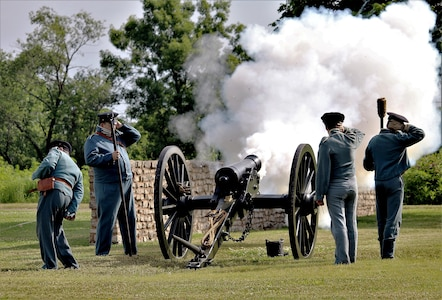 Reenactors show Fort Scott's historical past. The fort's Soldiers were part of events that would lead to America's growth and expansion. This year marks the 175th anniversary of Fort Scott.