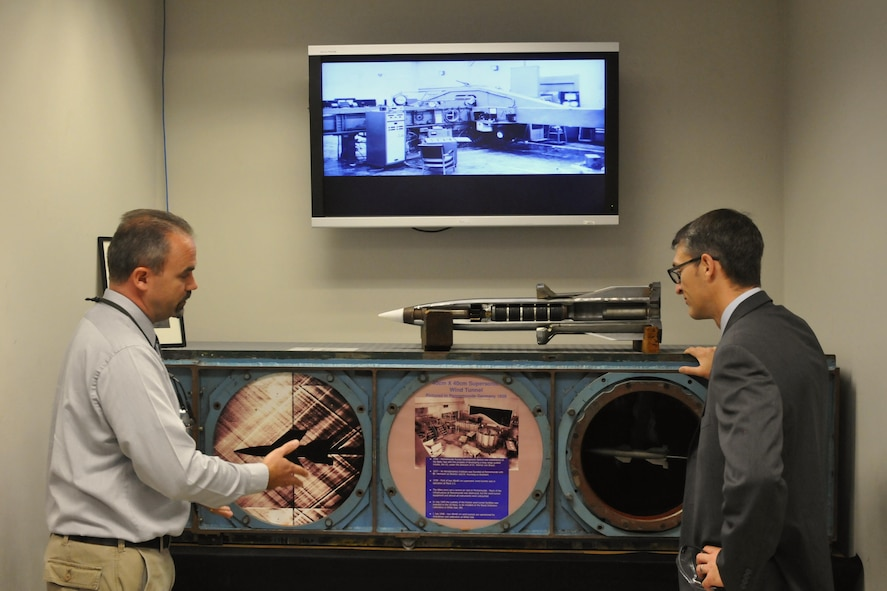 AEDC Commander gets an up-close look at Hypervelocity Wind Tunnel 9 capabilities