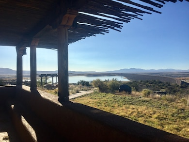 COCHITI LAKE, N.M. – A view of the lake and dam from the Visitor Center, Oct. 26, 2017. Photo by Ashley Tellier. This was a 2017 Photo Drive entry.