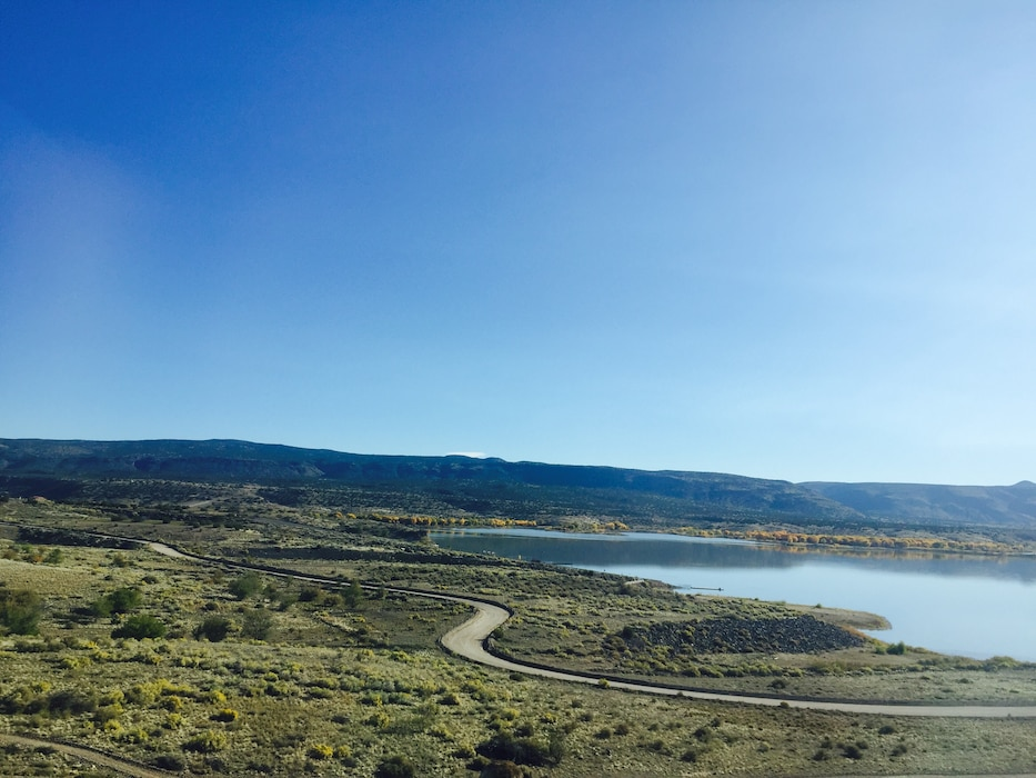 COCHITI LAKE, N.M. – A view of the lake, Oct. 26, 2017. Photo by Ashley Tellier. This was a 2017 Photo Drive entry.