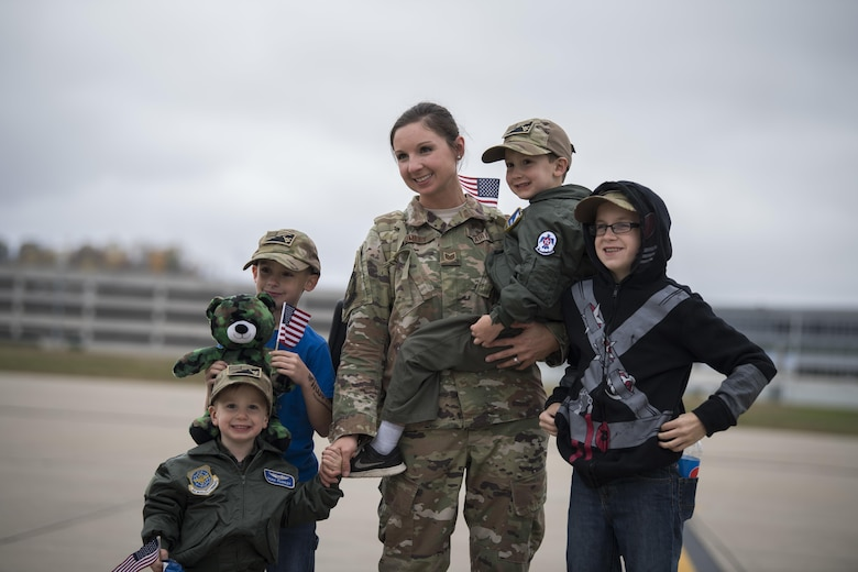 The remaining members of the 130th Airlift Wing's overseas deployment in support of Operation Freedom Sentinel return home to McLaughlin Air National Guard Base, Charleston, W.Va. Nov. 4 through 7, 2017.