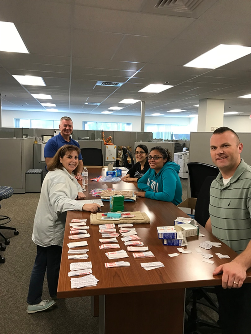 DCMA Hartford employees assembled 72 personal hygiene kits, which were distributed to residents in Puerto Rico affected by Hurricane Maria.