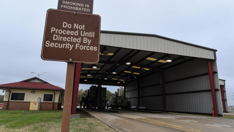 Security forces Airmen protect base through inspection