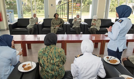 Military women from Brunei, U.S. exchange ideas, build lasting friendships during CARAT