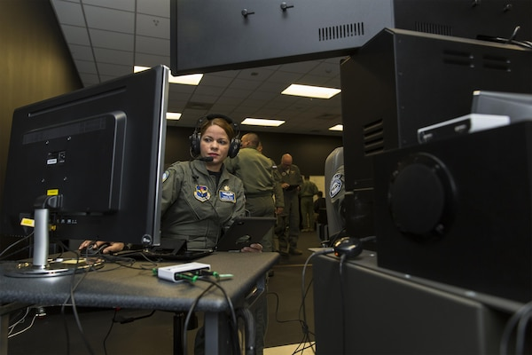Maj. Maria Tejada-Quintana, a guest instructor at the Inter-American Air Forces Academy at Joint Base San Antonio-Lackland, is the only female flight guest instructor teaching international students from partner nations in the Western Hemisphere.