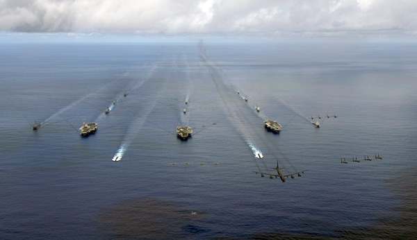 Korea navy to join exercise with 3 United States aircraft carriers