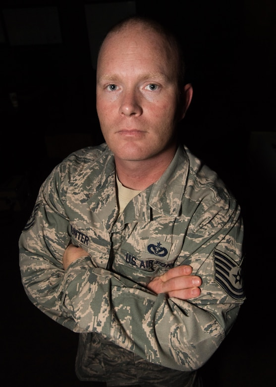 Tech. Sgt. Kenny Hunter, 2nd Civil Engineer Squadron structures NCO in-charge, poses for a photo at Barksdale Air Force Base, La., Nov. 6, 2017.