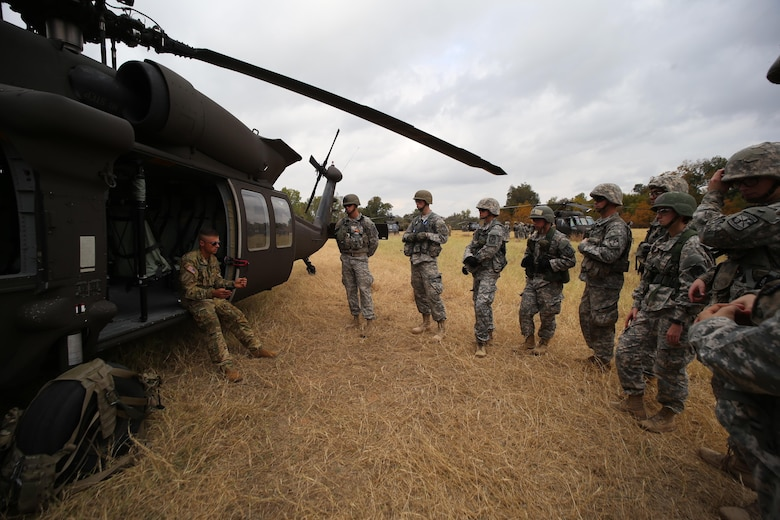 ROTC cadets partner with an Army National Guard unit
