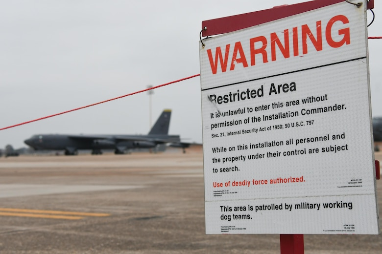 A B-52 Stratofortress is parked on the flight line during Exercise Global Thunder 18 at Barksdale Air Force Base, La., Nov. 4, 2017.