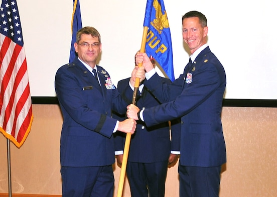 The 170th Group is under new leadership following a change of command ceremony at Offutt Air Force Base, Neb., Nov. 4. Lt. Col. David Preisman took the group guidon from Col. Mark Hopson during the tradition rich ceremony held at the 557th Weather Wing auditorium.