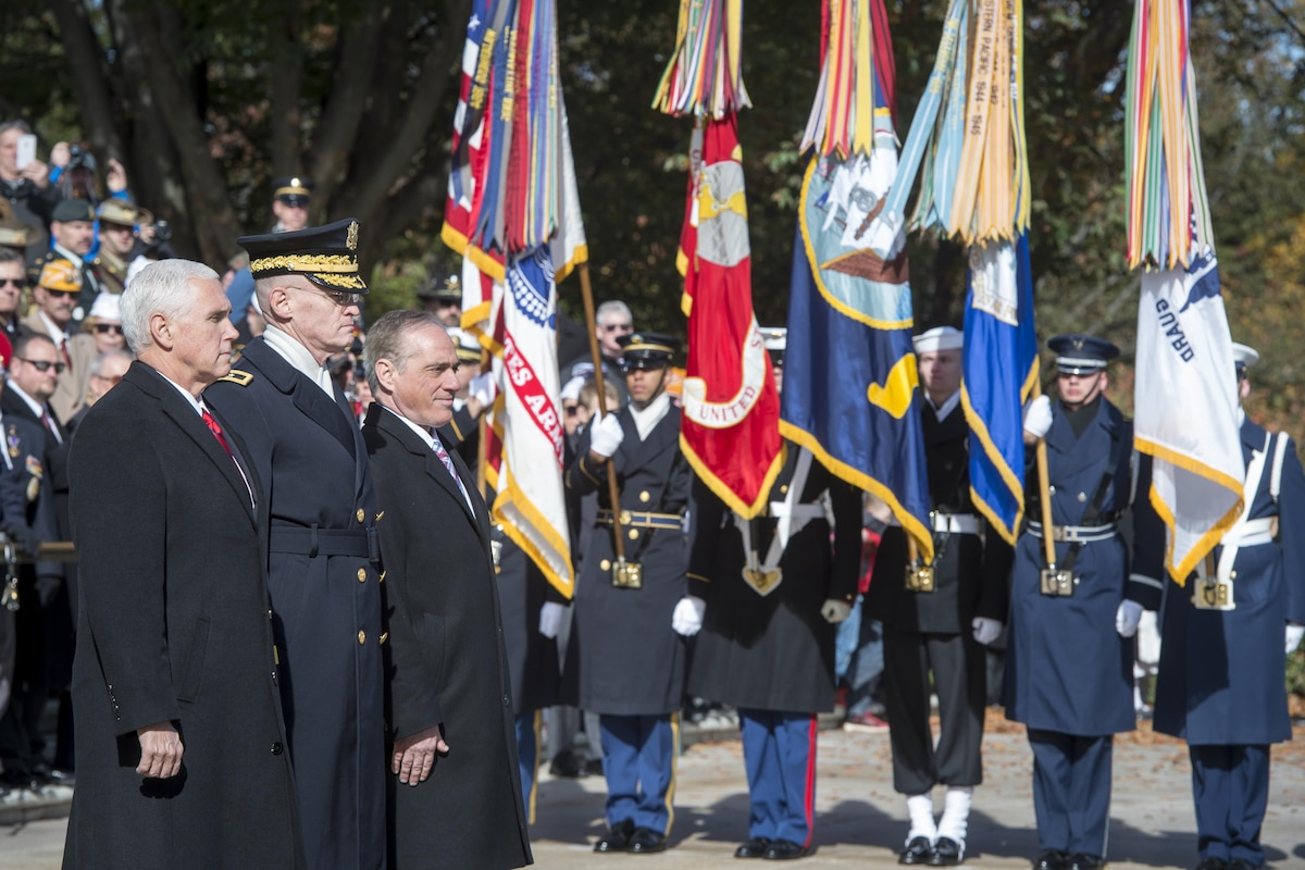 Vice President Mike Pence attends a Veterans Day ceremony