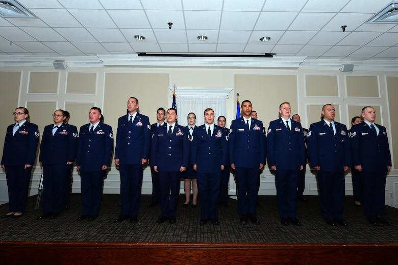 Team Shaw leaders recognized Community College of the Air Force degree recipients during a ceremony at Shaw Air Force Base, South Carolina, Nov. 9.
