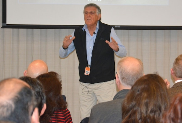 Nobel Laureate Dr. Dan Shechtman speaks to AFRL crowd