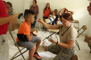 Ohio Guard members provide medical care in Puerto Rico