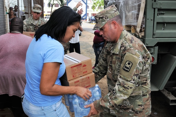 Puerto Rico Army National Guard soldiers assist affected communities around the island after Hurricane Maria in Piñones, Puerto Rico, Nov. 9, 2017. National Guard photo by Spc. Hamiel Irizarry