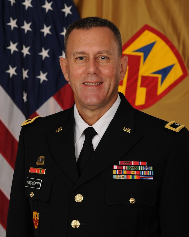 Major General Steven W. Ainsworth, commanding general, 377th Theater Sustainment Command